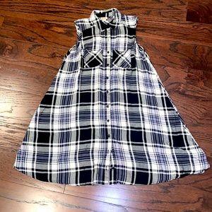Mossimo Black & White Flannel Sleeveless Dress